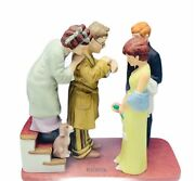 Norman Rockwell Figurine Vtg Danbury Mint Saturday Post First Date Home Late Dog