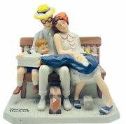 Norman Rockwell Figurine Vtg Danbury Mint Saturday Post Home From Vacation Gift