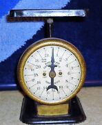 Antique Jewel Tea Company American Family Scale With Brass Plate Cool
