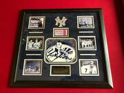 Mickey Mantle, Deluxe Framed 1958 World Series Ticket Stub Scarce / Vintage