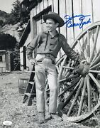 Johnny Crawford Signed The Rifleman 11x14 Photo In Person Autograph Jsa Coa