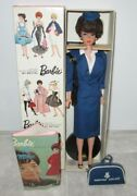 Japanese Exclusive Dressed Box Bubble Cut Barbie In American Airlines Stewardess