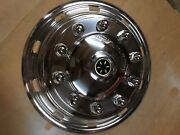 Stainless Wheel Covers- Big Truck Steer Axle-24.5andrdquo-10 Hole