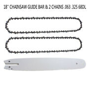 18 Inch Chainsaw Guide Bar + Saw Chain. 063. 325 68dl For Stihl 023 025 Ms 251