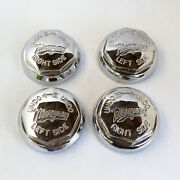 Four Morgan Spinners Continental Style Octagonal Chrome Stainless Steel Knock On