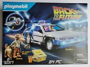 Playmobil Back To The Future Delorean 70317 New 64 Pcs Doc Marty Mcfly Einstein