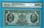 Can-note20 The Royal Bk Of Canada1927ref630-14-12 Legacy 40 Ppq.