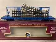 ✅mth Premier Long Island 60' Flat Car And Switch Load 20-95140 Crane Mow O Scale