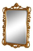 L38409 Friedman Brothers 6694 Scrolls And Roses Beveled Mirror New