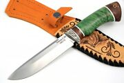 Premium Authorand039s S390 Tactical Survival Hunter Knife Russian Bear 68-70 Hrc