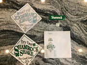 Very Rare Vintage Mcdonalds Try Our Shamrock Shake Signage And Window Cling.