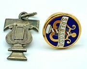Lot Of 2 Barbershop Harmony Society S.p.e.b.s.q.s.a.pin And Antique 1949 Charm