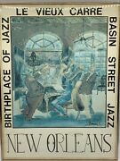 George Luttrell Ii. New Orleans Le Veux Carre Birthplace Of Jazz Poster 1981