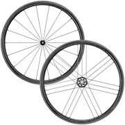 New Campagnolo Bora Wto 33 Carbon Road / 2-way Fit Wheelset / Dark Labels
