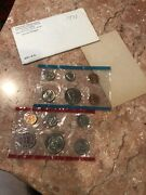 1971 Uncirculated Mint Set As Issued By U.s. Mint W/ Original Envelope12 Coins