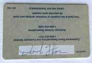 Derrick Thomas Signed Back American Airlines Admirals Club Card 1999 Kc Chiefs