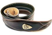 Legato Guitar Strap 3 Inches Wide Double Padded Soft Leather New W/ 3 Free Picks