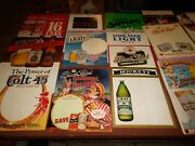 21 Cardboard Beer Signs Posters Lot - Colt 45 Black Label Lone Star Corona