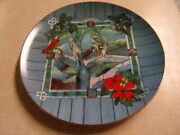 Give Kids The World Stained Glass Window Chapel Collectible Plates Set Of 4