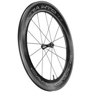 New Campagnolo Bora Wto 77 Front Road / 2-way Fit Wheel / Black / White