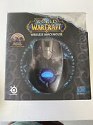 Steelseries Blizzard World Of Warcraft Wireless Mmo Gaming Mouse Used Rare