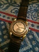 Ww2 Gents Relsa Quality Wristwatch,rose Gold Plated Gwo,excellent Condition