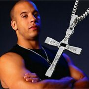 Necklace Pendant Cross Dominic Toretto Fast And Furious Vin Diesel Necklace Free