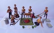 Large Collection Of Scout Camp Figures Pig Roast Bob A Job Lawn Mower