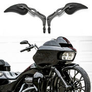For Harleydavidson Road Glide Special Custom Motorcycle Rearview Mirrors Black