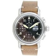 Aristo Menand039s Watch Automatic Stainless Steel Vintage Chrono 7h186 Leather