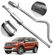 Performance Single Stainless Exhaust Pipe Fits Ford Everest Suv 2015 - 2017