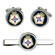 Rfa Fort George, Royal Navy Cufflinks And Tie Clip Set