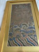 Vintage Chinese Silk Embroidery Panel Textile Tapestry Framed 23andldquox 39andrdquo Pair