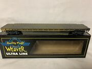 ✅pro Weathered Weaver Us Army 50' Flat Car For O Scale Train Set Military