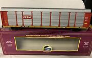 ✅mth Premier Cp Rail Corrugated Auto Carrier 20-90561 Screened Rack Ttx O Scale