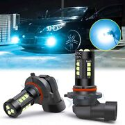 2x 9006 Hb4 9012 12-smd Led Fog Light Bulb Drl Lamps Replacement 8000k Ice Blue