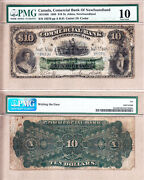 1888 10 Commercial Bank Of Newfoundland Pmg Vg10