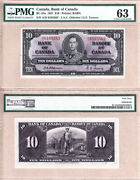 1937 10 Kgvi Bank Of Canada Scarcer Osborne And Towers Bc-24a. Pmg Ch Unc63