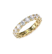 14kt Gold Wedding Anniversary 4mm Cubic Zirconia Sterling Silver.925 Size 5