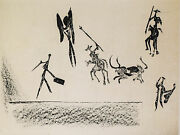 Corrida Bullfight, 1949 Limited Edition Lithograph By Pablo Picasso Dimensions