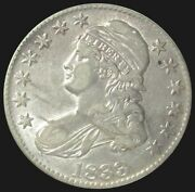 1833 Silver United States Capped Bust Half Dollar Coin About Uncirculated