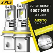 Auxito 9007 Hb5 Led Headlight Bulb Canbus High Low Beam 6000k Super Bright Light