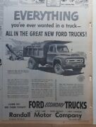 1953 Newspaper Ad For Ford Trucks - Series F-750 Dump Truck Everything You Want