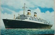 Gibraltar 1952 American Export Lines S. S. Independence Post Card Airmail Geneva