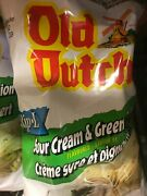 6 Bags Old Dutch Sour Cream And Green Onion Chips Large Size 255g Canada Fresh