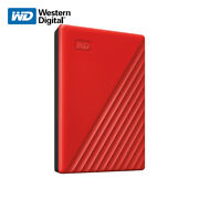 Wd New 1tb 5tb My Passport Portable External Hard Drive Red With Tracking