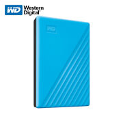 Wd New 1tb 5tb My Passport Portable External Hard Drive Blue With Tracking