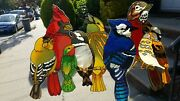 Huge Northern Birds Glass Sun Catcher Real Stained Glass 19 X 14