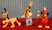 Disney's Hagen-renaker Mickey Mouse Bandleader, Goofy And Pluto - 1956 To 1961