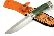 Premium Authorand039s S390 Tactical Survival Hunter Knife Russian Lynx 68-70 Hrc